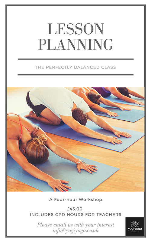 yogiyoga yoga cpd lesson planning workshop